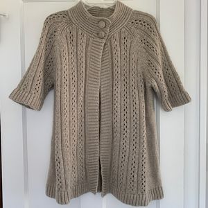 Chico's Open Front Cape Wool Mohair Sweater Size 2